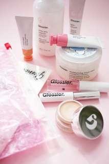 Open PO Glossier Makeup Skincare