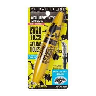 🚚 BN Maybelline Chaotic Lash Waterproof Mascara - Blackest Black 9.5ml