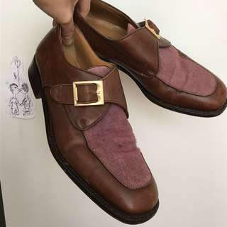 Vintage Bally Buckle Loafers