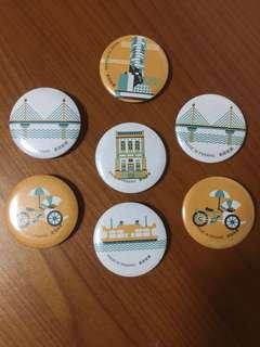 Penang souvenir badges