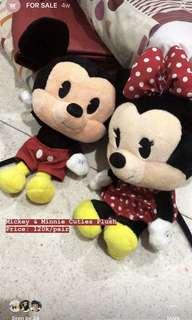 Mickey & Minnie Cuties Doll Plush Boneka