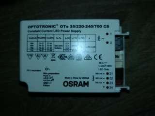 optotronic led driver OTE 35 /220 240/ 700cs LED driver. 27-54V. 700mA