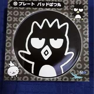 Sanrio lucky draw, Badtz-maru round plate.