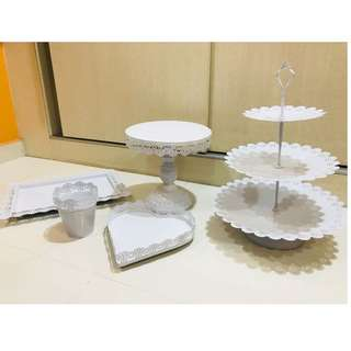 [For Rent] Dessert Table Trays and Cake Stand