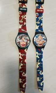 Swatch Watch Pair
