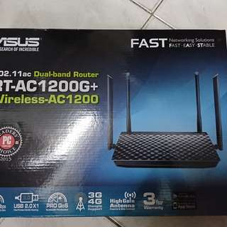 Asus RT-AC1200G+ Gigabit Router 華碩路由器
