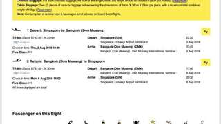 $440 2 Pax 2 way Aug scoot ticket to Bangkok!