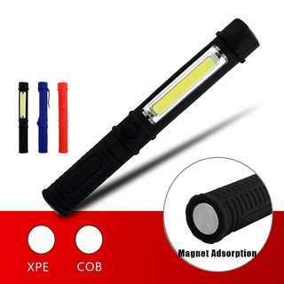 Camping Light COB Led Portable Plastic light XPE LED Flashlight Torch Lamp With Magnetic And Clip For Camping Outdoor Sport Lamp