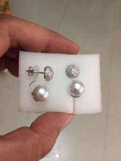 Baby South Sea Pearls with Real Diamonds