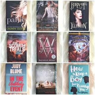 Buku Fiksi Novel Inggris Indonesia