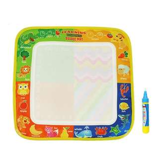 🚚 4 color Magic Water Drawing Mat with Magic Pen Reusable Painting toy 29X29cm