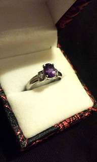 Amethyst and Sterling Silver 925 Ring from Japan