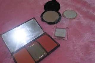Sleek Blush On , Catrice Highlighter , Purbasari Compact Powder