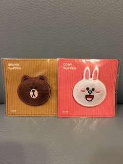 Line Friends 熊大&Cony 襟章兩隻