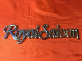 Emblem royal saloon