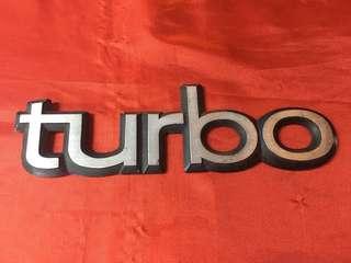 Emblem turbo