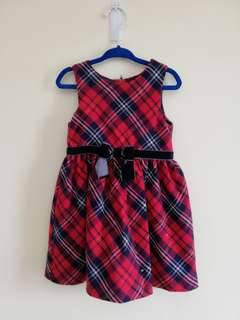 H&M red checkered dress 1.5-2y