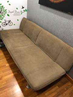 Sofa Bed - suede material