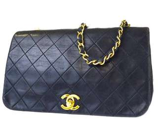 Chanel Vintage Classic logo flap Bag