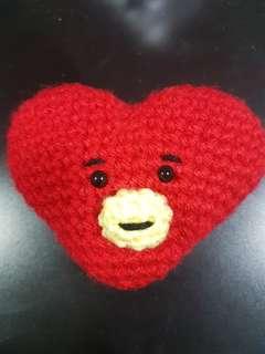 Inspired BT21 Tata crochet doll