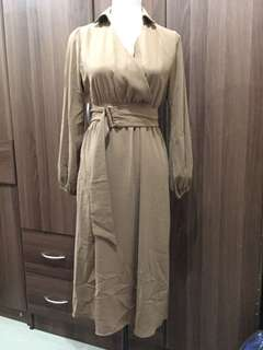 [BRAND NEW] Light Brown Formal Dress