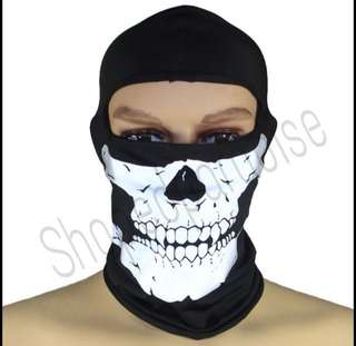 Reflective Skull Full Face Head Lining / Scarf