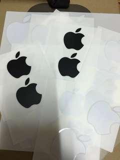貼紙 Apple Logo Stickers White x 10 Black x 2