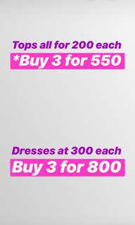 Sale tops, bottoms, and dresses!!! Check my photos for info ☺️💖