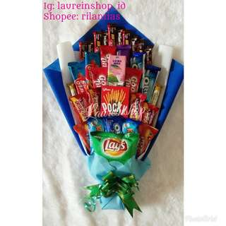 Buket snack hadiah wisuda/buket untuk hadiah/hadiah unik