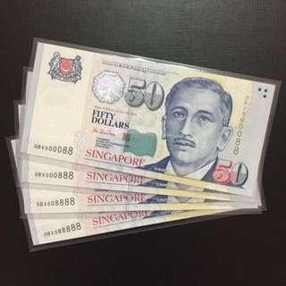 Super serials $50 Singapore HTT Notes (Gem UNC)