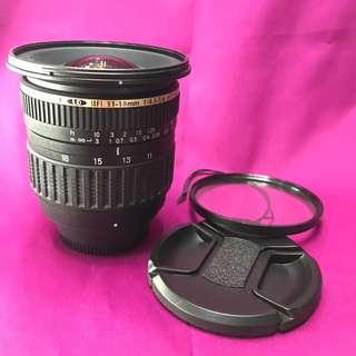 Tamron 11-18mm f4.5-5.6 SP AF aspherical DiII wide lens for nikon mount