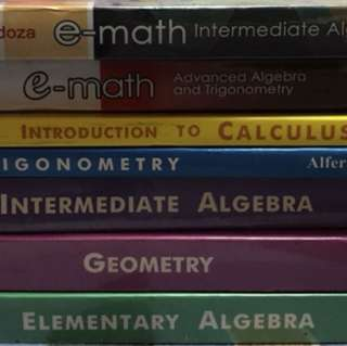 Math textbooks (High school and college)
