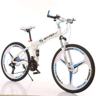 PROMO-Free Delivery -(Full Suspension Bicycle)Brand new 26''Foldable Mountain Bike,21Speeds - $299