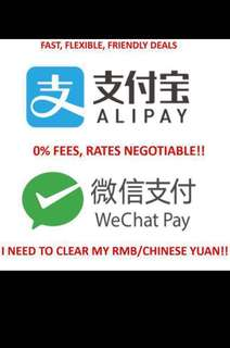 Wechat wallet / Alipay top up or withdrawal
