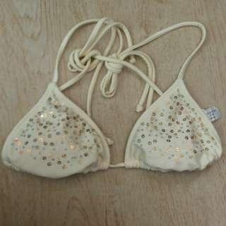 Off white bikini top