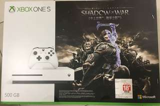 Xbox One S BNIB 500GB Shadow of War Bundle