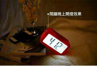 🚚 升級溫度版時尚藍光LED時鐘 ℹ展示品9成新