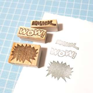 Rubber stamp - WOW set