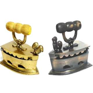 Antique brass metal Iron  home display