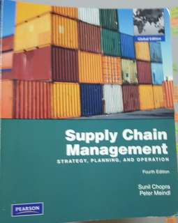 Supply Chain Management (strategy, planning & operation) 4 Edition