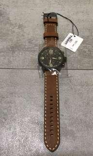天梭Chrono XL黑面石英錶 手工皮革錶帶 (全新)