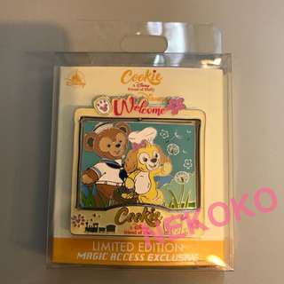 HKDL LE600 Cookie MA 奇妙處處通 會員限量版徽章 Duffy 香港迪士尼 Disney pin trading