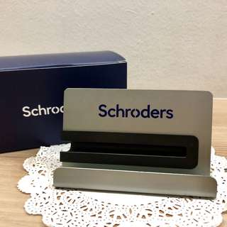BNIB Business Card Holder (Schroders)
