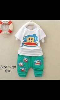 100% cotton Kids boys girls baby summer sets/dress/formal/casual