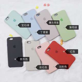 🚚 iPhone 矽膠多色手機殼