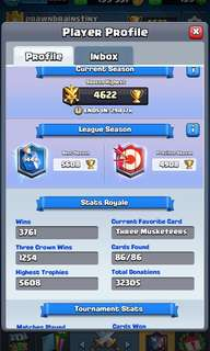 PB 5.6k Clash Royale Account