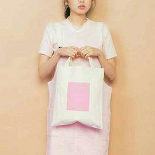 🚚 Per. 自製手提袋 粉色帆布包