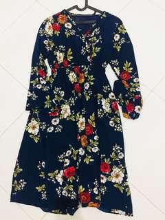 Dress kimono bunga flower