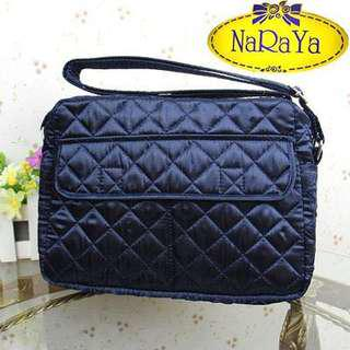 Naraya Fabric Sling Bag - Black