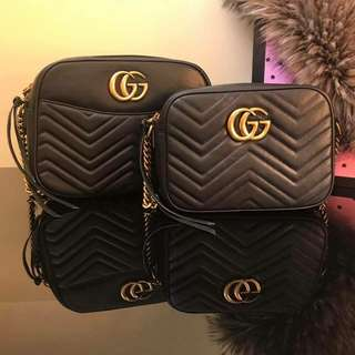 Gucci GG Marmont Small and Medium Quilted Camera Bag